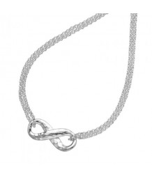 Dower and Hall Sterling Silver Entwined Infinity Pendant