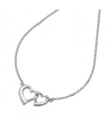 Dower and Hall Sterling Silver Small Entwined Love Hearts Pendant