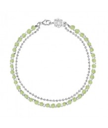 Dower and Hall Sterling Silver & Peridot Bead Orissa Bracelet