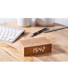 Gingko - Flip Click Clock - Cherry