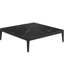 Gloster Grid Lounge Square Coffee Table With Nero Ceramic Top