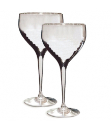 Culinary Concepts Pair of Hammered Wine Goblets