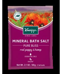 Kneipp - Red Poppy & Hemp Mineral Bath Salts 60g Sachet
