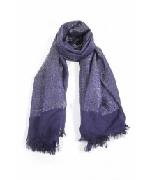 Silver Shimmer Scarf in Navy Blue