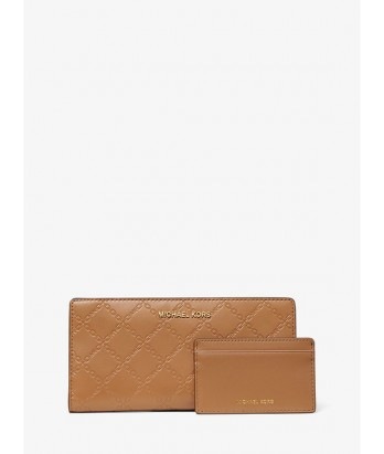 MICHAEL KORS Large Chain-Embossed Leather Slim Wallet