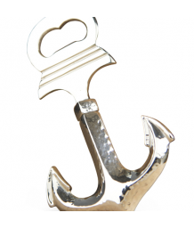 Culinary Concepts Nickel Anchor Bottle Opener With Integral Corkscrew
