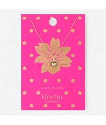Orelia Tropical Flower Charm Necklace