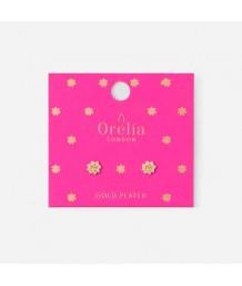 Orelia Tropical Flower Stud Earrings