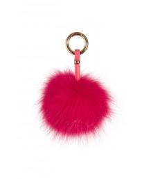 Pom Pom Keyring Hot Pink