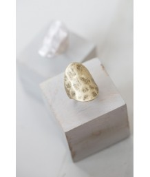 Tutti & Co - Gold Chunky Ring