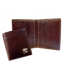 Tyler & Tyler - Real Leather Brown Jeans Wallet, White Brick, Rut