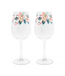 Cath Kidston -  CLIMBING BLOSSOM SET OF TWO WINE GLASSES
