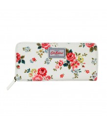 Cath Kidston -  FIELD ROSE TRAVEL CONTINENTAL WALLET