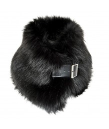 Helen Moore Ebony Faux Fur Buckle Collar
