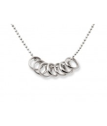 Silver Lucky 7 Rings Necklace