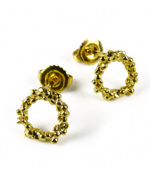Mounir Yellow Gold Plated Stud Earrings